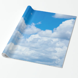 Blue Sky Clouds Background Skies Heaven Design Wrapping Paper