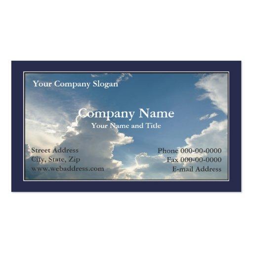 Blue Sky Clouds Business Card