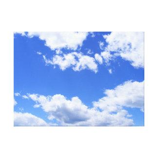 Blue sky clouds canvas print