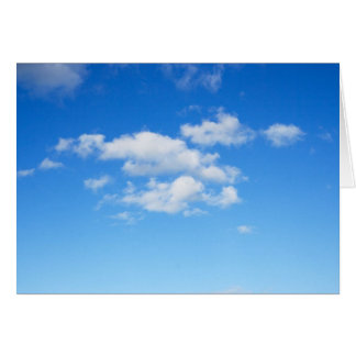 Blue Sky & Clouds Greeting Card