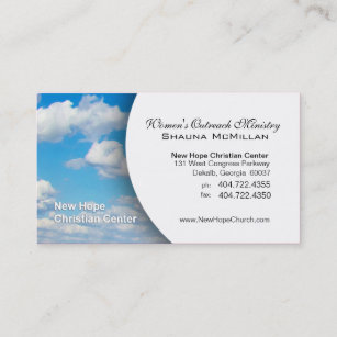 Ministry business cards templates zazzle blue sky clouds christian ministerpastor business card colourmoves