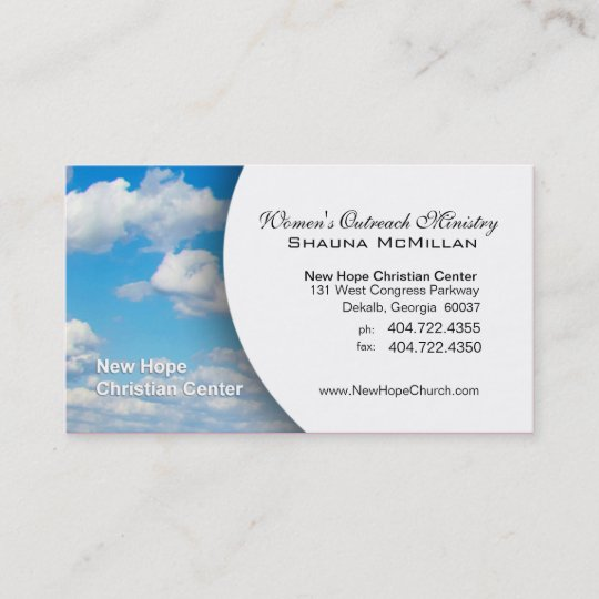 Blue Sky Clouds Christian Ministerpastor Business Card Zazzle