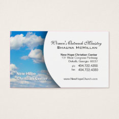 Blue Sky & Clouds Christian Minister/pastor Business Card at Zazzle