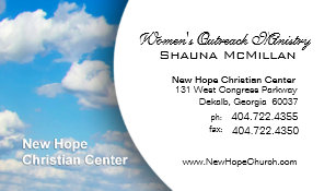 Minister business cards templates zazzle blue sky clouds christian ministerpastor business card colourmoves