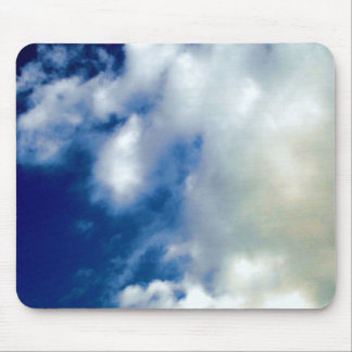 Blue Sky & Clouds Mouse Pad
