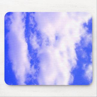 Blue Sky & Clouds Mouse Pad