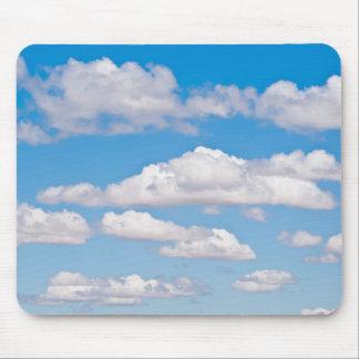 Blue sky clouds mouse pad