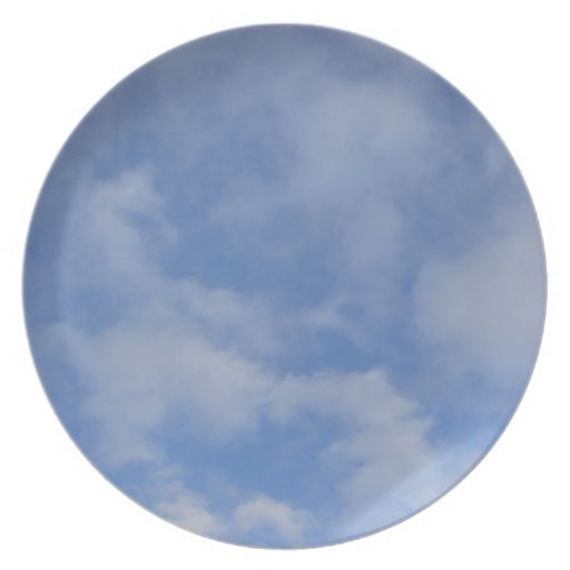 Blue Sky Clouds Party Plates