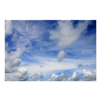 Blue Sky Clouds - Poster