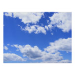 Blue sky clouds posters