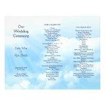 Blue Sky Clouds Tri-fold Wedding Program