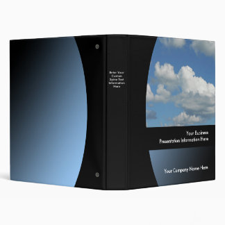Blue Sky Custom Business Presentation Binder