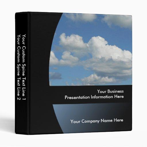 Blue Sky Custom Business Presentation Binder