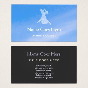 "Professional Business ""Blue Sky"" Dance Business Cards"