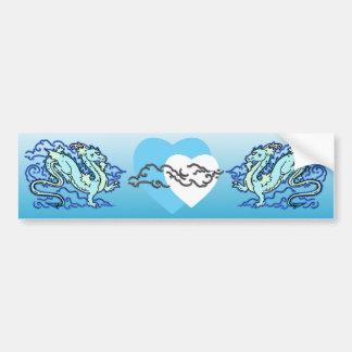 Blue Sky Dragon Bumper Sticker