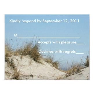 Blue Sky & Dunes Response Card