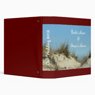 Blue Sky & Dunes Wedding Album Binder