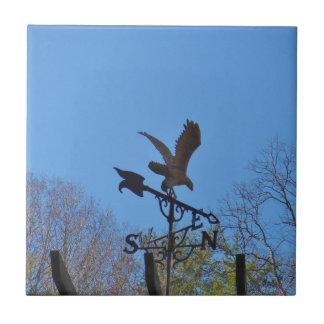 Blue sky, Eagle and Arrow Weather vane Tile