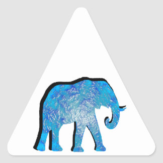 BLUE SKY ELEPHANT TRIANGLE STICKER