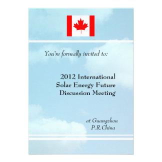 Blue sky flag or logo international meeting invitation