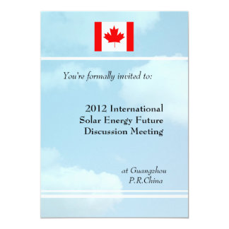 Blue sky,flag or logo international meeting 5x7 paper invitation card