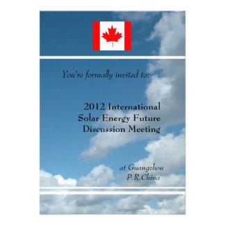 Blue sky flag or logo international meeting custom invites