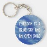 Blue Sky Freedom Key Chain