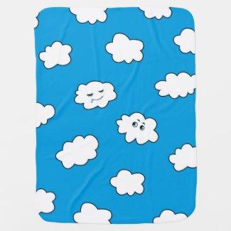 Blue Sky Funny Cartoon Clouds