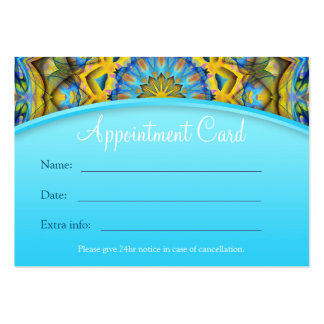Blue Sky Golden Cornfield Appointment Card - pink Large Business Card