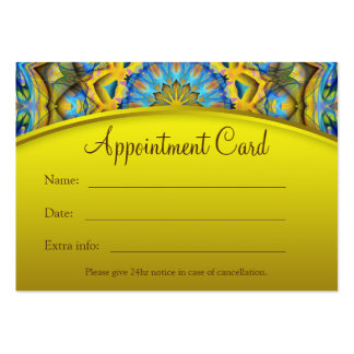 Blue Sky Golden Cornfield Appointment Card -yellow Large Business Card