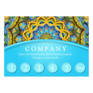 Blue Sky Golden Cornfield Customer Loyalty Card Large Business Card