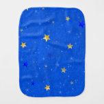 Blue Sky Golden Stars Baby Burp Cloths