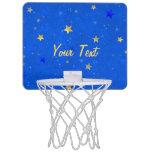 Blue Sky Golden Stars Mini Basketball Backboards
