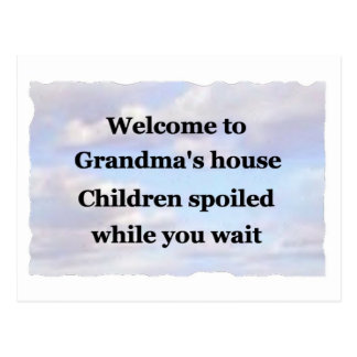 Blue sky Grandma's house Post Card
