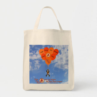Blue Sky Help Solve the Mystery CRPS RSD Balloons Tote Bag