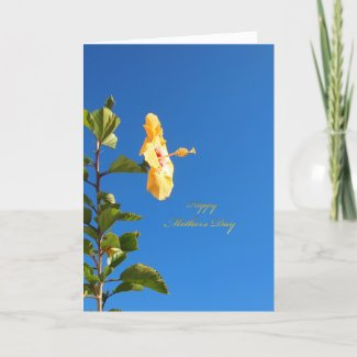 Blue Sky Hibiscus Mother's Day Card