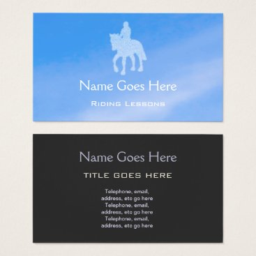 """Professional Business """"Blue Sky"""" Horse Riding Business Cards"""