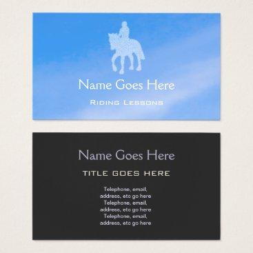 "Beach Themed ""Blue Sky"" Horse Riding Business Cards"
