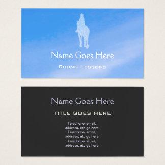 """Blue Sky"" Horse Riding Business Cards"