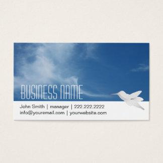 Blue Sky & Hummingbird Business Card