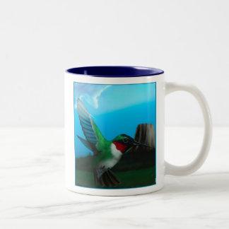 Blue Sky Hummingbird Mug