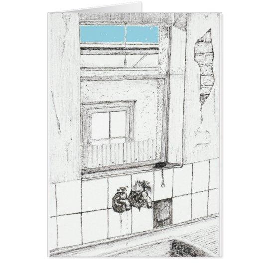 Blue Sky, ink on paper, 23rd April 2011 Rod de'Hoe Card