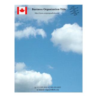 Blue sky international business letterhead. letterhead