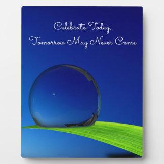 Blue Sky Moon In Dew Drop Celebrate Quote Plaque