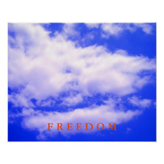 Blue Sky Motivational Freedom Poster