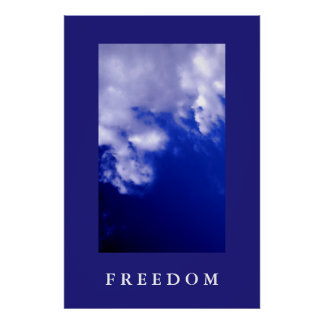 Blue Sky Motivational Freedom Poster Print