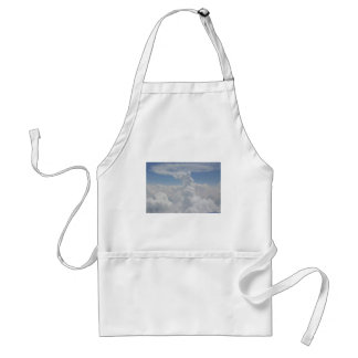 Blue Sky Nature White Puffy Cloud Formations Adult Apron
