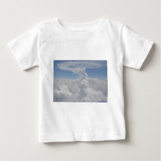 Blue Sky Nature White Puffy Cloud Formations Baby T-Shirt