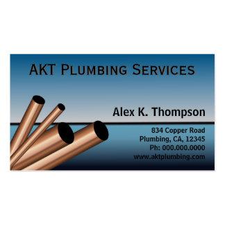 Blue Sky Ocean Copper Steel Pipes Plumber Plumbing Business Card