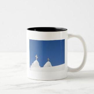 Blue sky of Mykonos Mugs